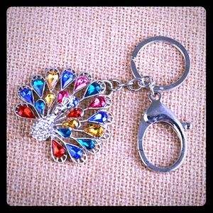 Accessories - Peacock keychain gold or silver